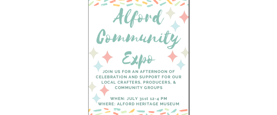 Alford Community Expo Graphic